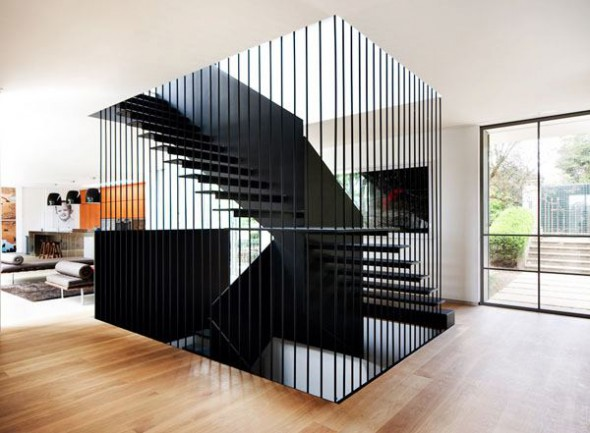House garden design archive linear staircase for Linear architecture design